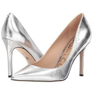 Sam Edelman Hazel Pumps - Soft Silver Leather